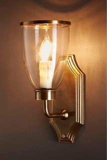 Westbrook Sconce Brass W/Glass Shade