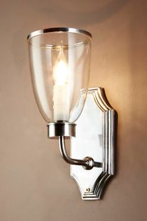 Westbrook Sconce Nickel W/Glass Shade