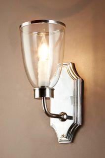 Westbrook Wall Light with Glass Shade Shiny Nickel
