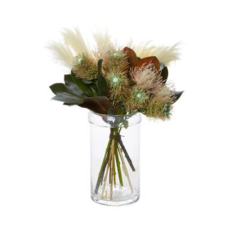 Wheat & Protea in Medium Cylinder Vase