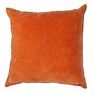 Adra Velvet Cushion Burnt Orange