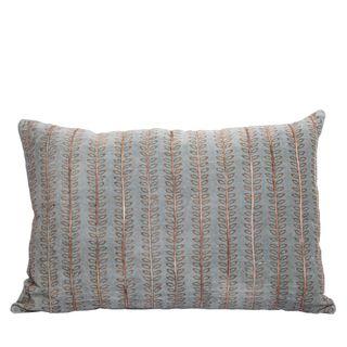 Kadi Velvet Cushion Blue Grey