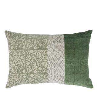Lilong Velvet Cushion Green
