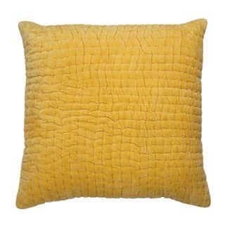 Nakur Velvet Cushion Yellow