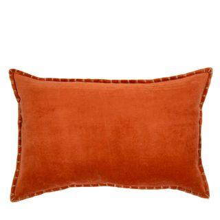 Adra Long Velvet Cushion Burnt Orange