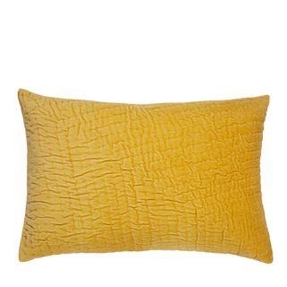 Nakur Long Velvet Cushion Yellow