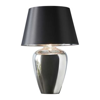 Manhattan Large - Silver - Large Urn Ceramic Table Lamp