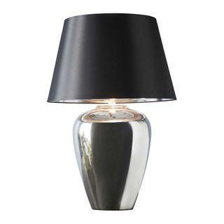 Manhattan Large - Silver - Large Urn Ceramic Table Lamp