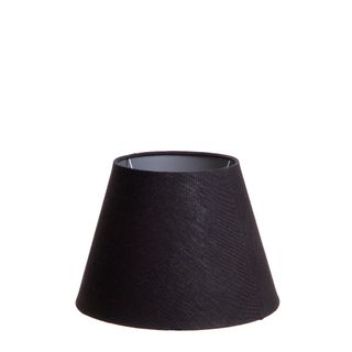 XS Taper Lamp Shade (10x6x7 H) - Black with Silver Lining - Linen Lamp Shade with B22 Fixture