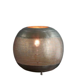 Riva Table - Zinc- Perforated Iron Ball Table Lamp