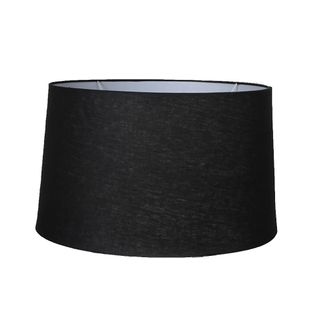 XL Drum Lamp Shade (18x16x10.5 H) - Black - Linen Lamp Shade with E27 Fixture