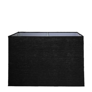XL Square Lamp Shade (18x18x12 H) - Black - Linen Lamp Shade with E27 Fixture
