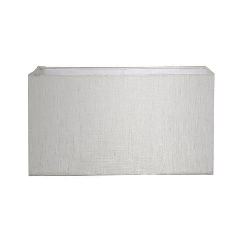 XL Rectangle Lamp Shade (18x8x10 H) - Light Natural Linen - Linen Lamp Shade with E27 Fixture