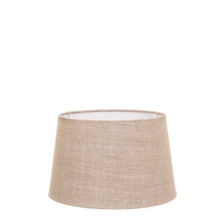 XS Drum Lamp Shade (10x8x7 H) - Dark Natural Linen - Linen Lamp Shade with B22 Fixture