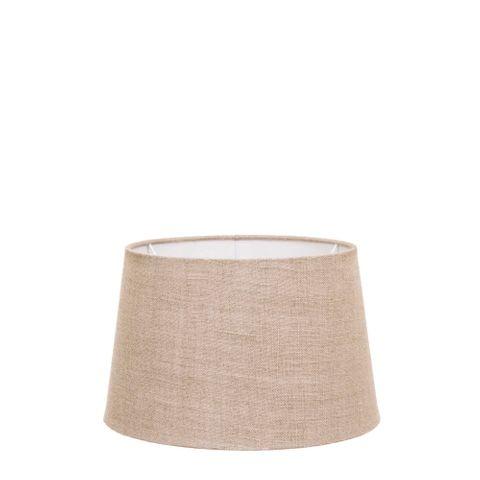 XS Drum Lamp Shade (10x8x7 H) - Dark Natural Linen - Linen Lamp Shade with B22 Fixture