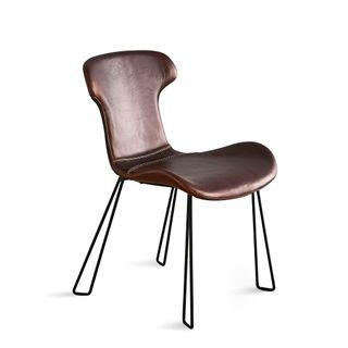 Yonkers Chair Tan and Black Waxed Leather