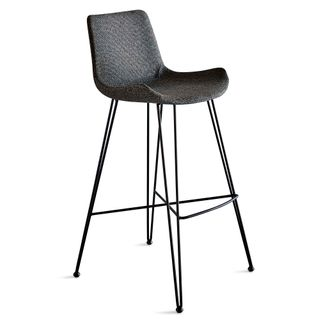 Brooklyn Bar Stool - Dark Grey/Black - Fabric Upholstered Bar Stool