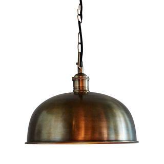 Jena - Antique Brass - Domed Solid Brass Pendant Light