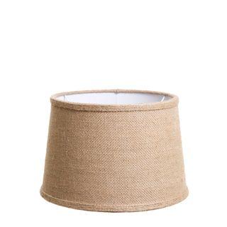 Small Drum Lamp Shade (12x10x8 H) - Jute - Jute Lamp Shade and B22 Fixture