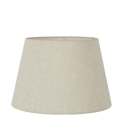 Large Taper Lamp Shade (16x11x10 H) - Light Natural Linen - Linen Lamp Shade with E27 Fixture