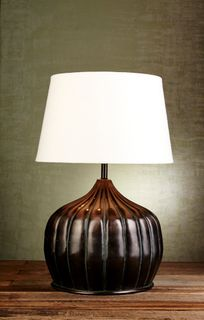 Pumpkin Table Lamp Base in Bronze