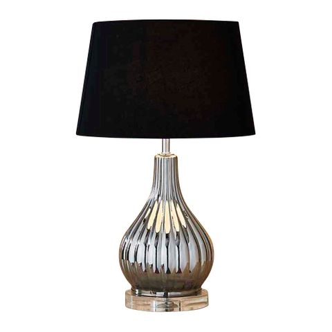 Mojo Table Lamp Base Silver