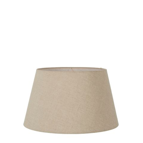 XS Taper Lamp Shade (10x6.5x7 H) - Dark Natural Linen - Linen Lamp Shade with E27 Fixture