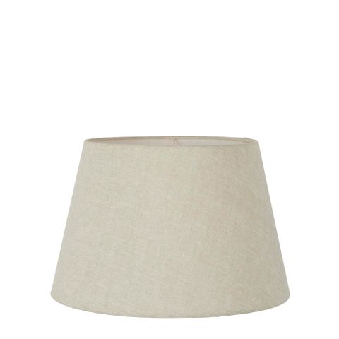 Small Taper Lamp Shade (12x8x9 H) - Light Natural Linen - Linen Lamp Shade with E27 Fixture