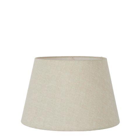 Small Taper Lamp Shade (12x8x9 H) - Light Natural Linen - Linen Lamp Shade with E27 Fixture