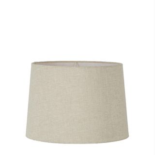 Medium Drum Lamp Shade (14x12x9.5 H) - Light Natural Linen - Linen Lamp Shade with E27 Fixture