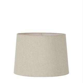 Linen Drum Lamp Shade Medium Light Natural
