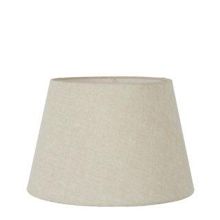 Linen Taper Lamp Shade Medium Light Natural