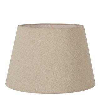 Linen Taper Lamp Shade XL Dark Natural