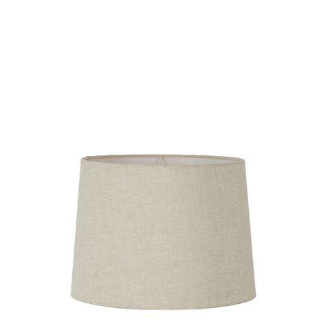 XS Drum Lamp Shade (10x8.5x7 H) - Light Natural Linen - Linen Lamp Shade with E27 Fixture