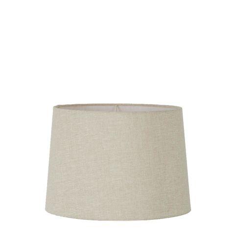 Small Drum Lamp Shade (12x10.5x8 H) - Light Natural Linen - Linen Lamp Shade with E27 Fixture