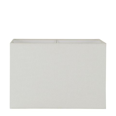 XL Square Lamp Shade (18x18x12 H) - Textured Ivory - Linen Lamp Shade with E27 Fixture