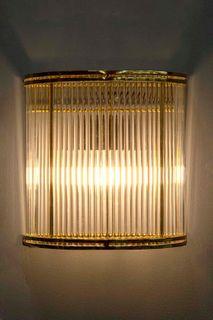 Verre Half Round Wall Light Brass