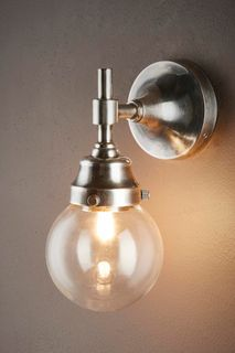 Iceberg Wall Lamp IP54 Ant. Silver