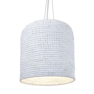 Lombok basket hanging lamp in cream