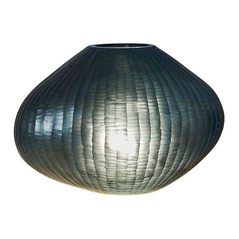 Paris Large - Bottle Green - Large Freeform Hand Cut Art Glass Table Lamp