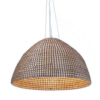 San Marco basket hanging lamp in brown