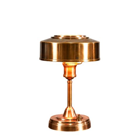 Bankstown Small - Antique Brass - Small Brass Art Deco Table Lamp