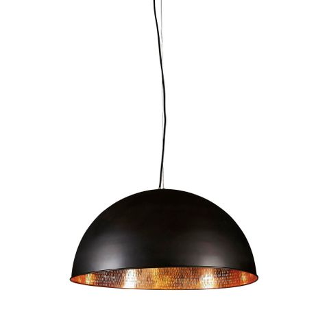 Alfresco Dome Ceiling Lamp Blk Copper