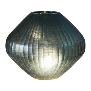 Paris Small - Bottle Green - Small Freeform Hand Cut Art Glass Table Lamp