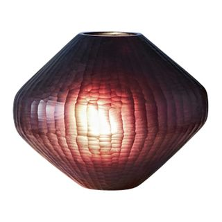 Paris Small - Ruby - Small Freeform Hand Cut Art Glass Table Lamp