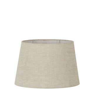 Linen Oval Lamp Shade Medium Light Natural