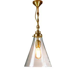 Gadsden Small Glass Hanging Lamp BRASS
