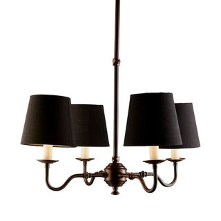 Milton 4 Arm Chandelier Base Bronze