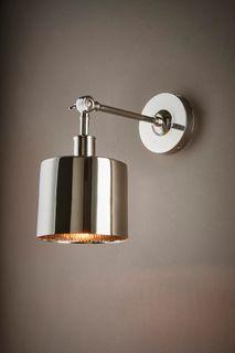 Portofino Wall Lamp in Shiny Nickel