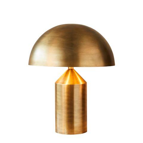Jacaranda table lamp in brass